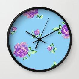 Blue Joys of Spring Wall Clock