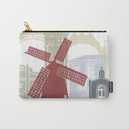 Ponta Delgada  skyline poster Carry-All Pouch