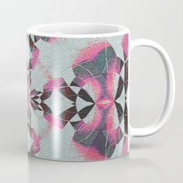 Organic Texture Mandala in Pink & Gray Coffee Mug