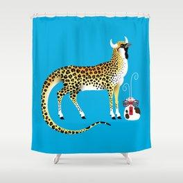 Fei Lian the Wind God Shower Curtain