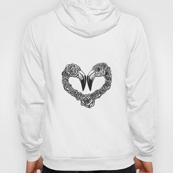 Flamingo Heart Hoody