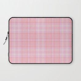 Pink Blush Plaid Pattern Laptop Sleeve