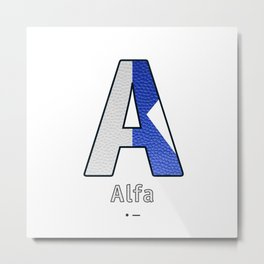 Alfa - Navy Code Metal Print