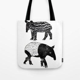 Malayan Tapir & Baby Tote Bag