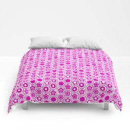 Geo Mini Collection 17 Hot Pink Flower Comforters