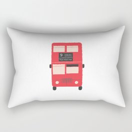 Red Double Decker Bus  Rectangular Pillow