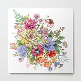 Watercolor succulents #45 Metal Print