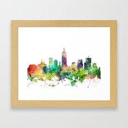 Indiana, Indianapolis Skyline SP Framed Art Print