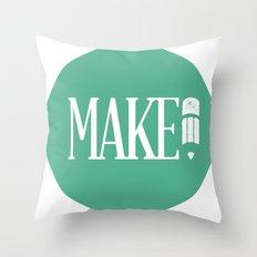 MAKE Throw Pillow