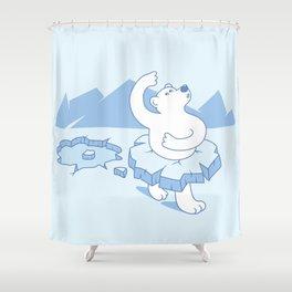 ice ballet Shower Curtain