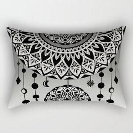 Mandala Dream Catcher (Black & White) Rectangular Pillow