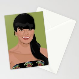 Lily Allen Press photo green and blue prints Stationery Cards