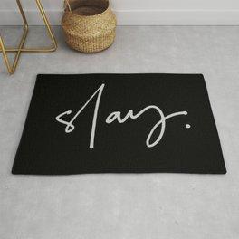 Slay (black) Rug