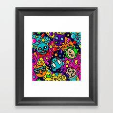 Retro Bear Picnic Framed Art Print