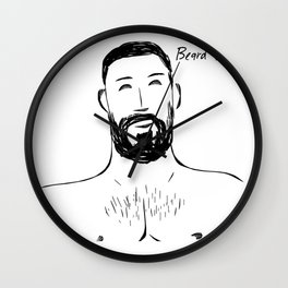 Beard Boy Classic 10 Wall Clock