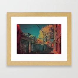 Montreal Alley Infrared 01 Framed Art Print