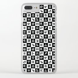 Astrology | Black + White Clear iPhone Case