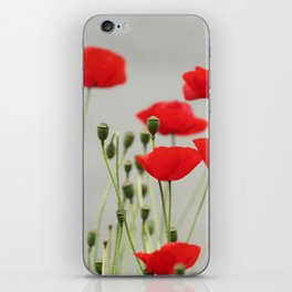 Red Poppies iPhone Skin