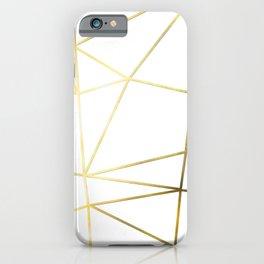 Gold Metallic Nodes iPhone Case