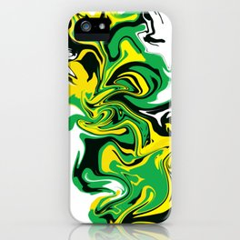 BlackGreen&Gold iPhone Case