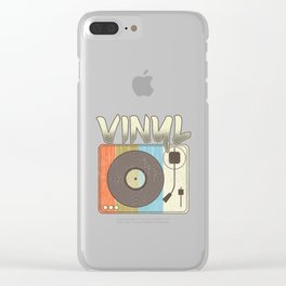 Vinyl Record Player Vintage Turntable Retro Clear iPhone Case