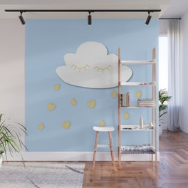 Cloudy with a chance of hears Wall Mural