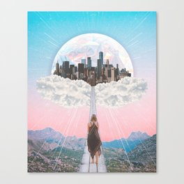 CITY OF PASTEL DREAMS III Canvas Print