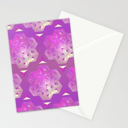 3D geometric shape Stationery Cards