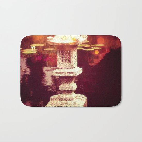 Japanese stone lantern Bath Mat