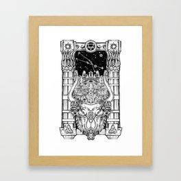 Minotaur's Labyrinth Framed Art Print