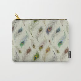 Colorful Peacock Feather Pattern Carry-All Pouch