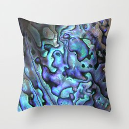 Deep Purple Abalone Shell Throw Pillow