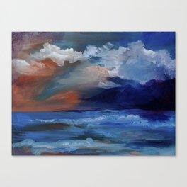 Red sky at morning, sailor's take warning. Canvas Print
