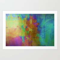 Emerging circles Art Print