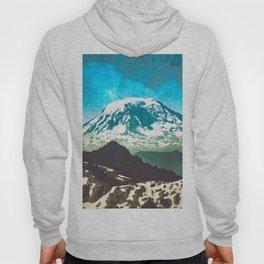 Mt Adams from Mt Rainier Washington State - Nature Photography Hoody