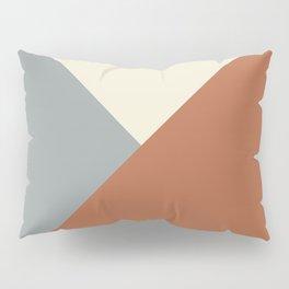 Origami Geo Tile // Terracotta Pillow Sham