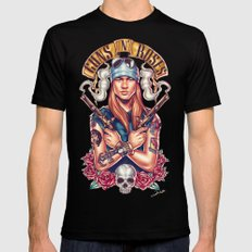 Welcome To The GnR Black Mens Fitted Tee MEDIUM