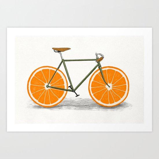 Zest (Orange Wheels) Art Print