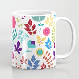 Pretty Colored Foral Pattern Coffee Mug