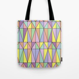 Pastel Triangles - Geometric Pattern Tote Bag