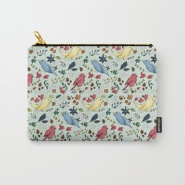 Pattern Birds Carry-All Pouch