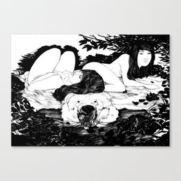 Winter: Nest Canvas Print