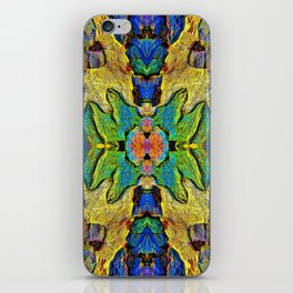 Colorful  Nature Wood Pattern Psychedelic Art iPhone Skin