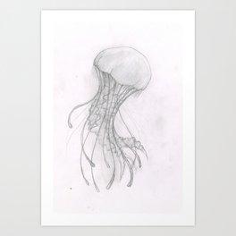 Wobbly Jellybubble Art Print