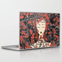 sleeping beauty Laptop & iPad Skins featuring Sleeping Beauty  by Paula Belle Flores