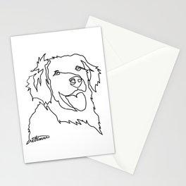 One Line Retriever Stationery Cards