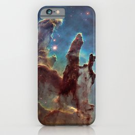 Pillars of Creation- NASA Hubble Telescope Image iPhone Case