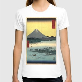 Hiroshige - 36 Views of Mount Fuji (1858) - 24: The Pine Forest of Miho in Suruga Province T-shirt