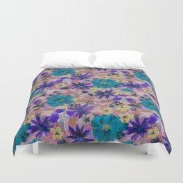 Elizabeth Floral Mauve Duvet Cover