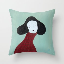 My Red Sweater Throw Pillow